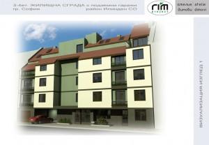 многоетажна жилищна сграда р-н Илинден, София