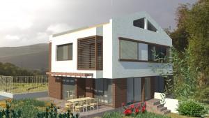 Двуетажна еднофамилна жилищна сграда